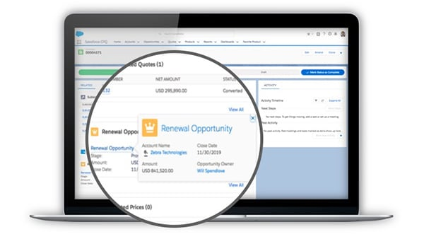 Renewal opportunities are automatically created, carrying over critical deal data.