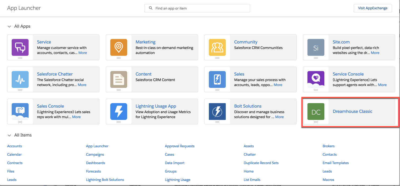The App Launcher in Lightning Experience