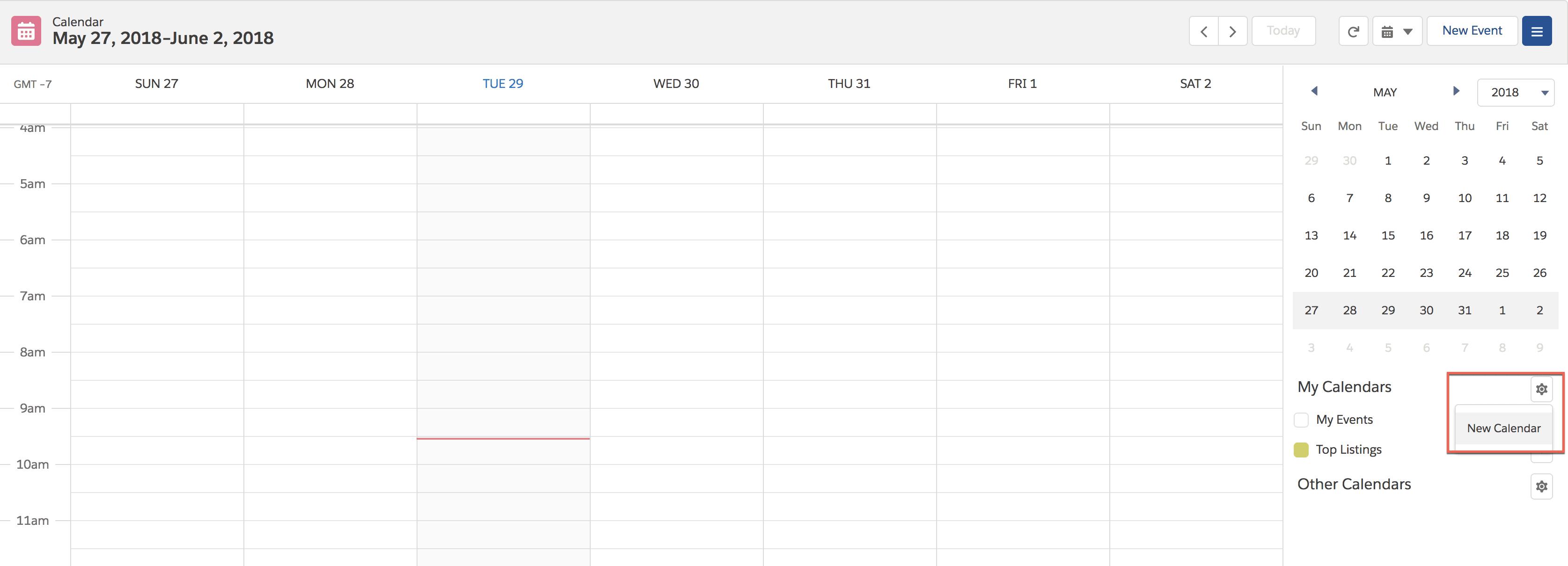 Image to create a new calendar