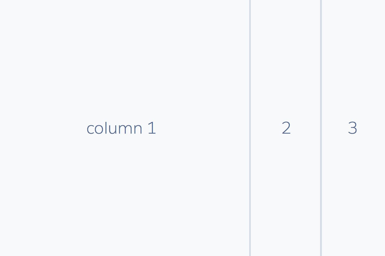 Columns in 4:1:1 width ratio
