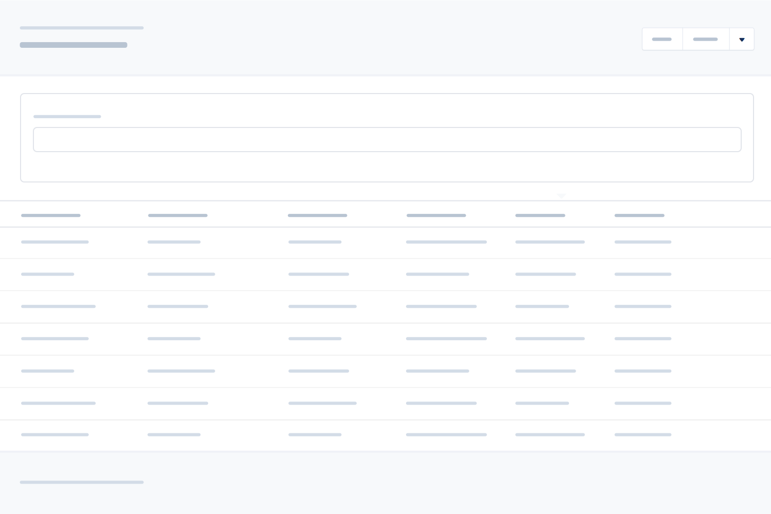 List view wireframe