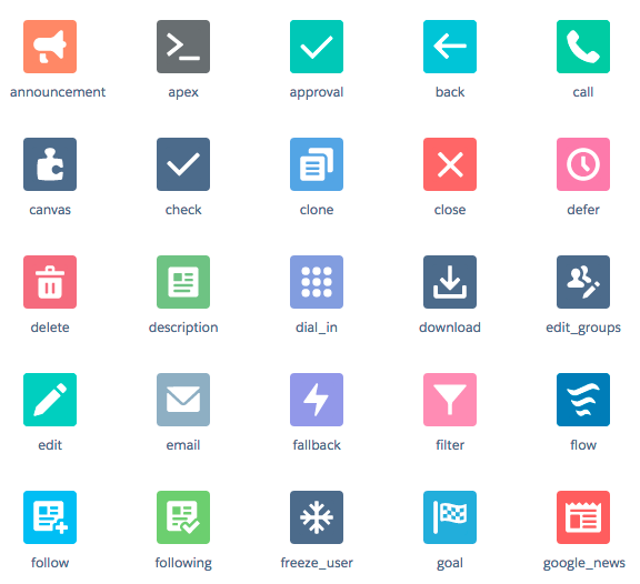 Example icons