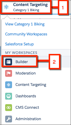 Select Content Targeting and select Builder.