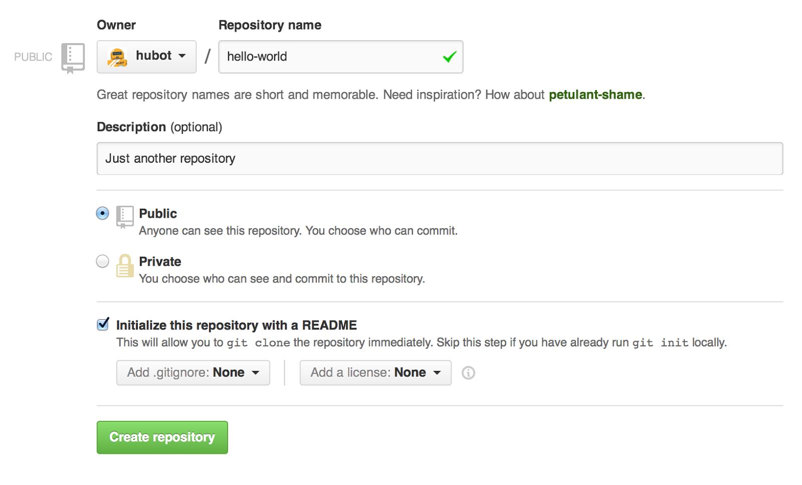 Create a Git Repository