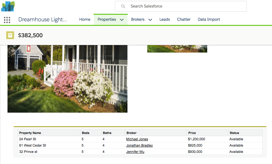 Screenshot showing look and feel of related properties