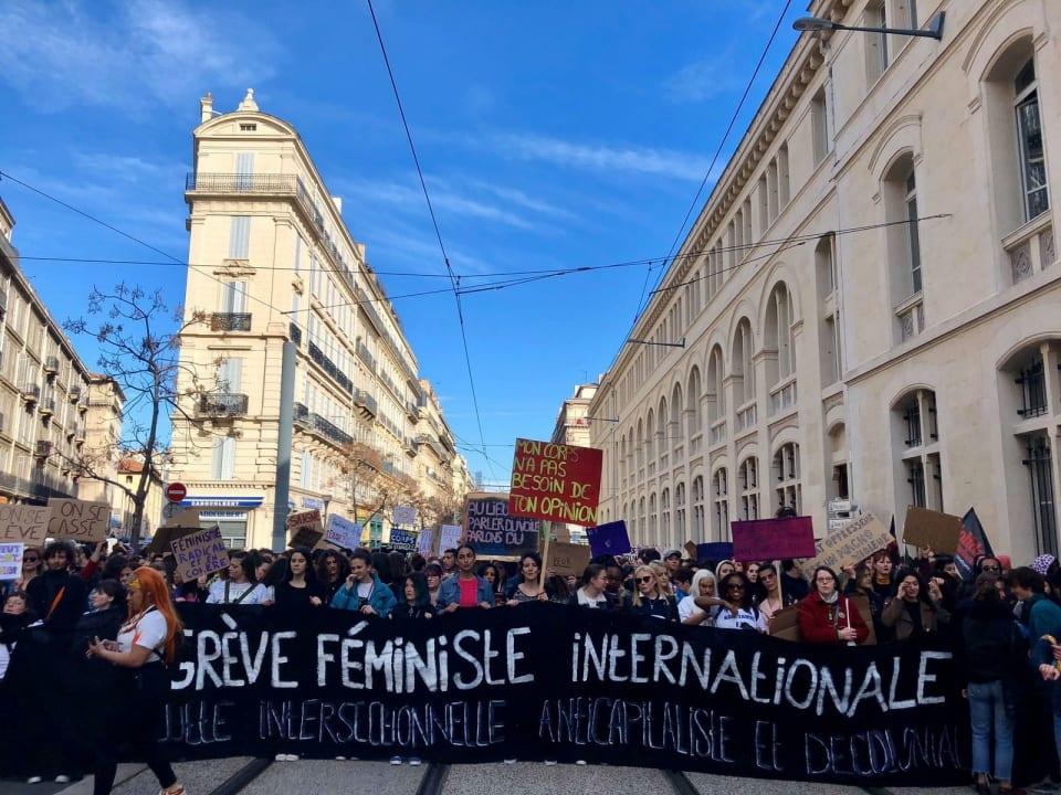 マルセイユでのデモの様子