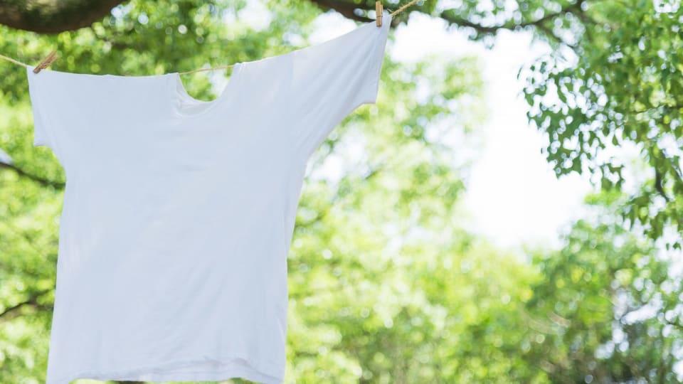 肌に直接触れていた衣服は特別な洗濯を