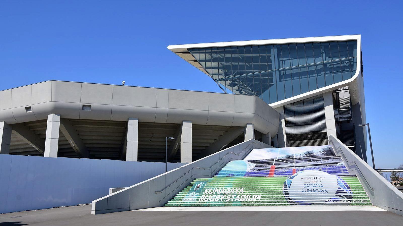 熊谷ラグビー場の階段