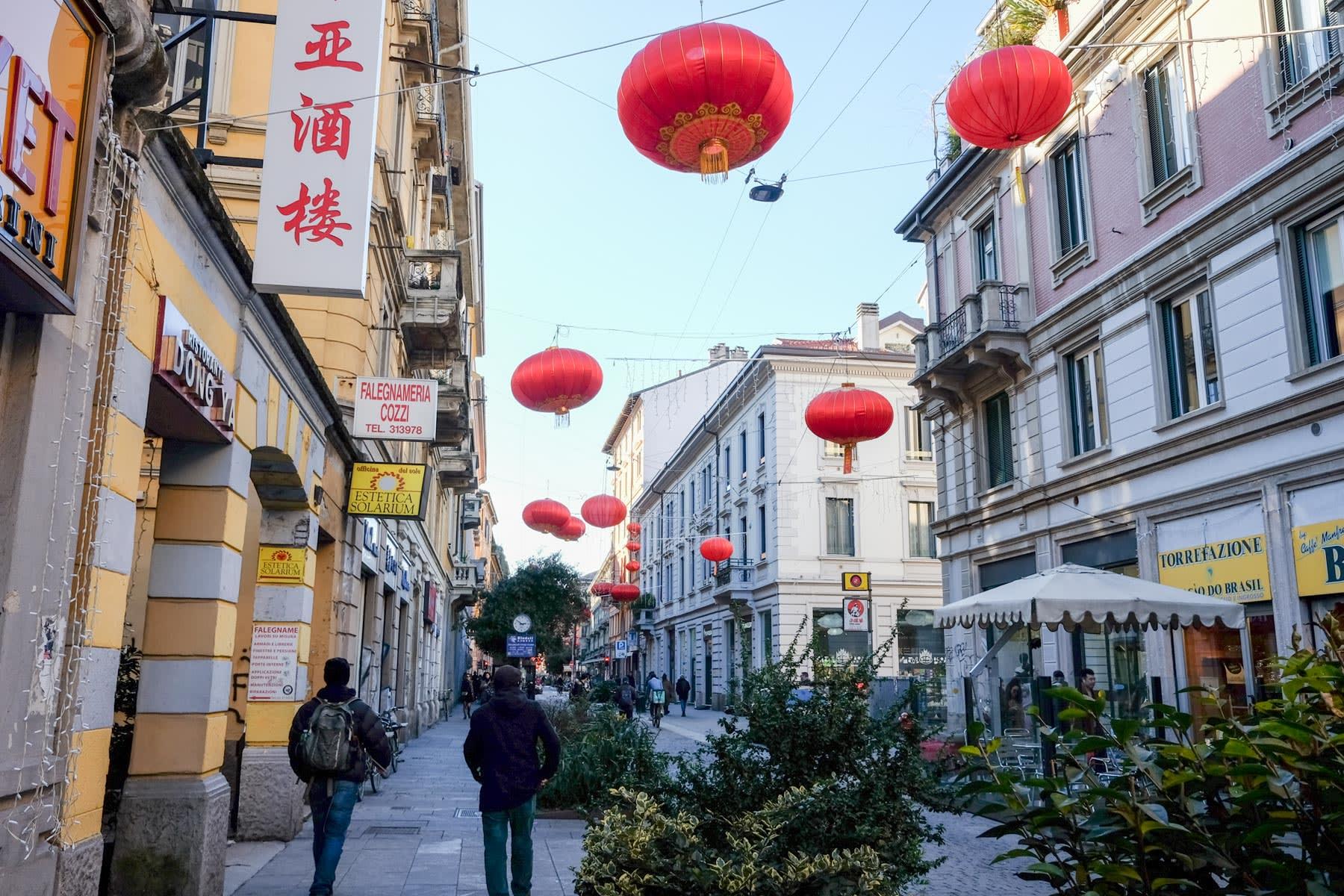 歩いている限りは普段と変わらないミラノの中華街