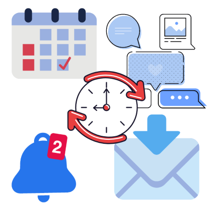 Save time with scheduling
