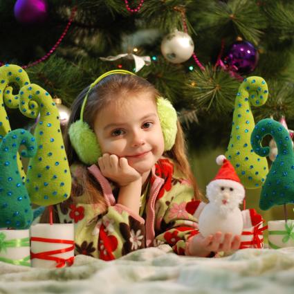 Little girl at Christmas