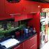 Evelyn y Juan Manuel cocina Roja alto brillo