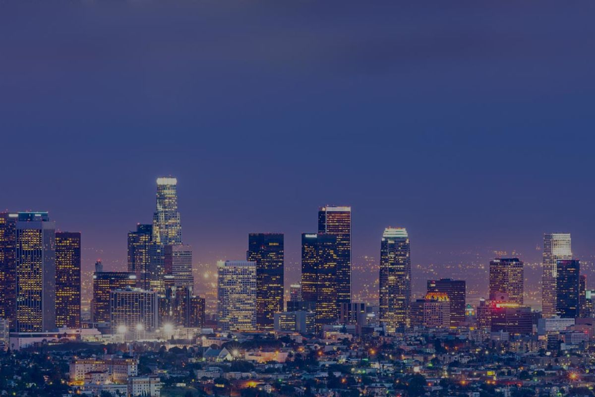 la city lights by night