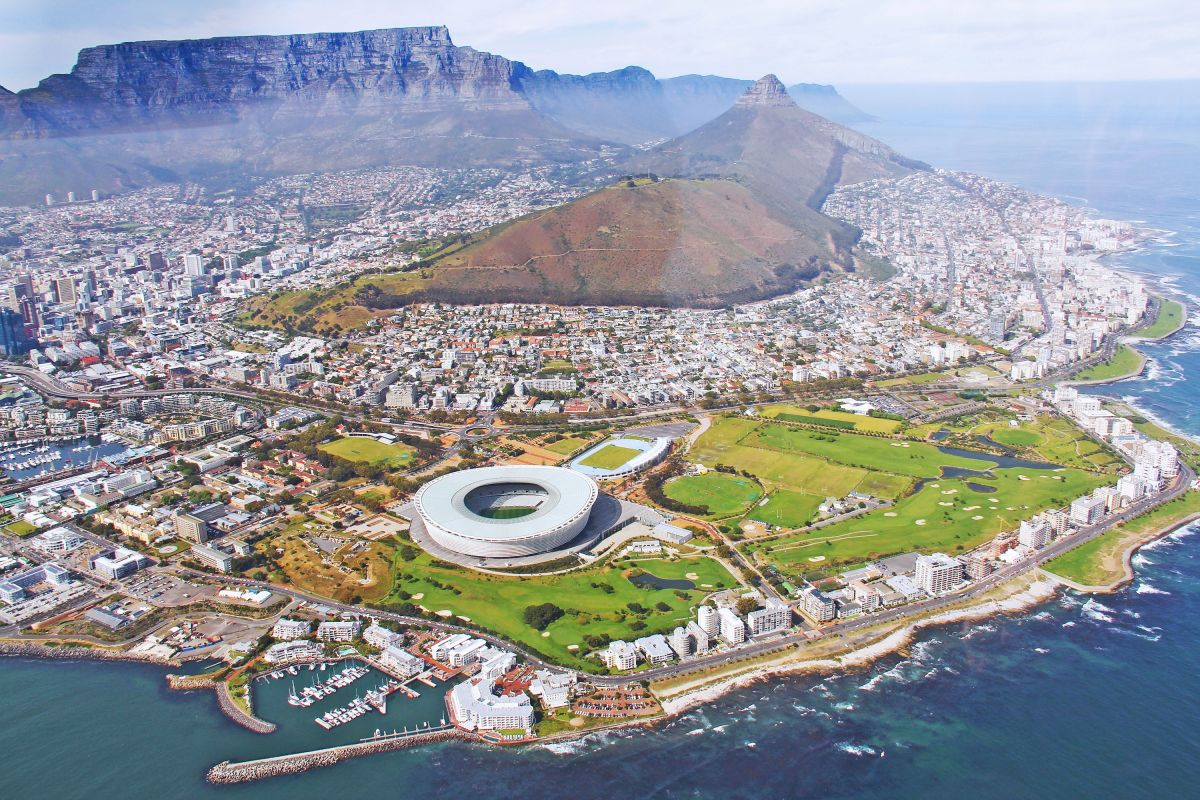 Cape Town view from a Helicopter