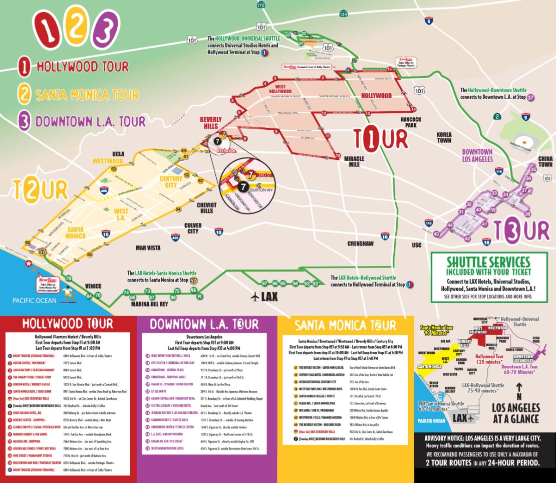 Map San Francisco Hop On Off Tour Map on