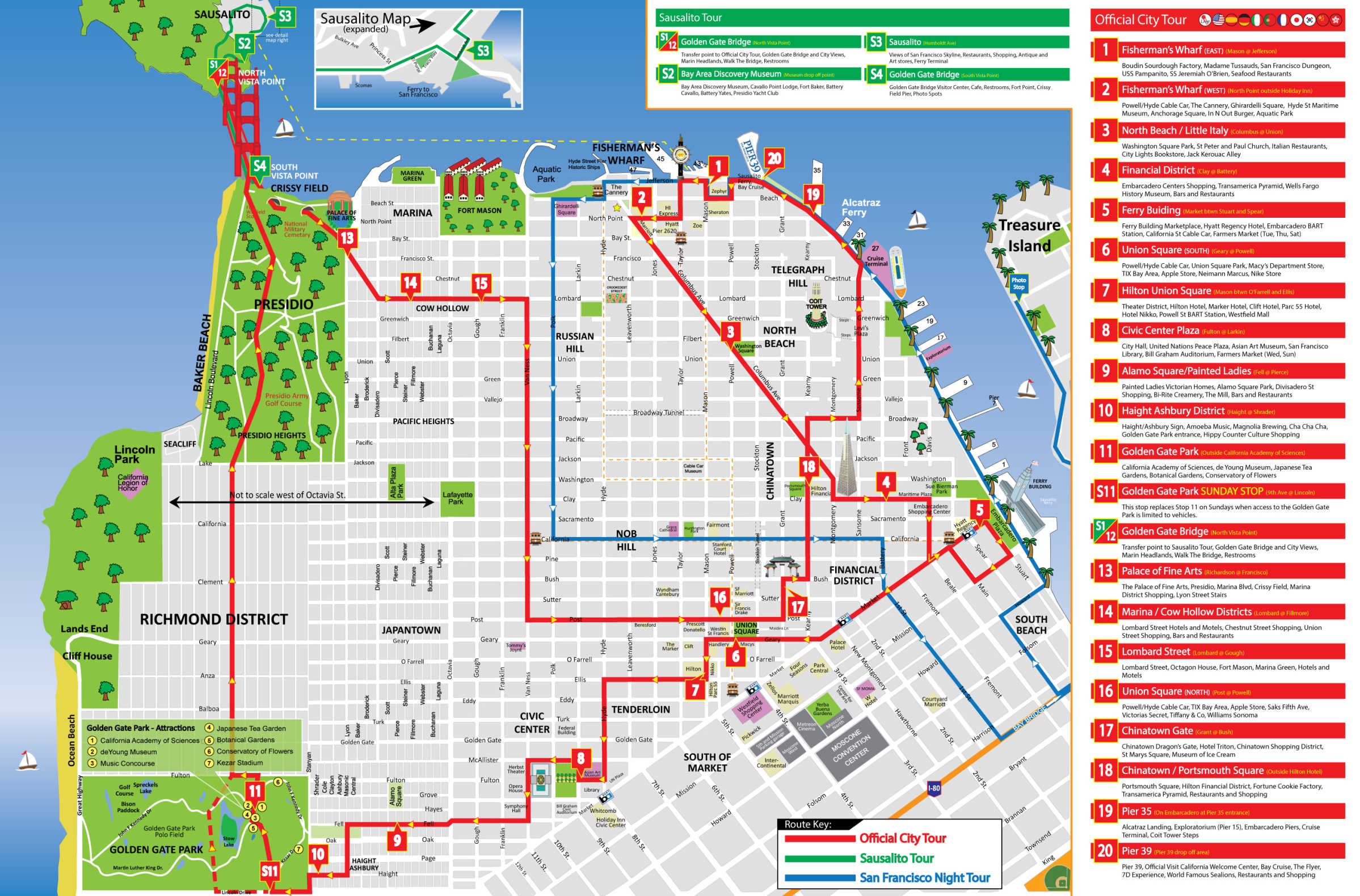 Sf Bus Map San Francisco Tour Map   City Sightseing