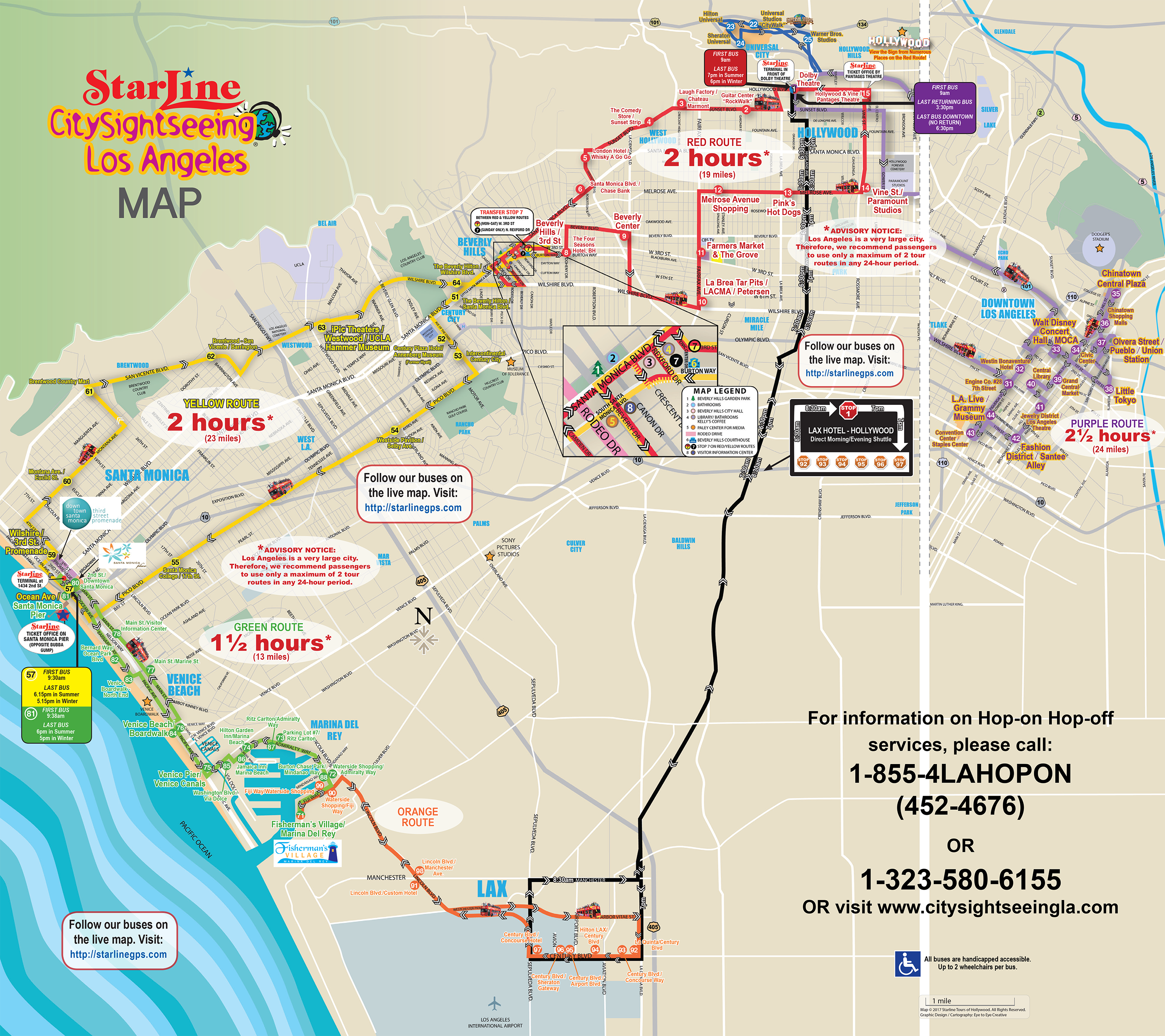 Bus tour map for La star homes tour