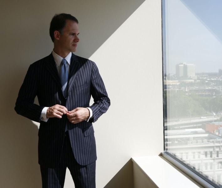 Dr. Aaron DeShaw at window