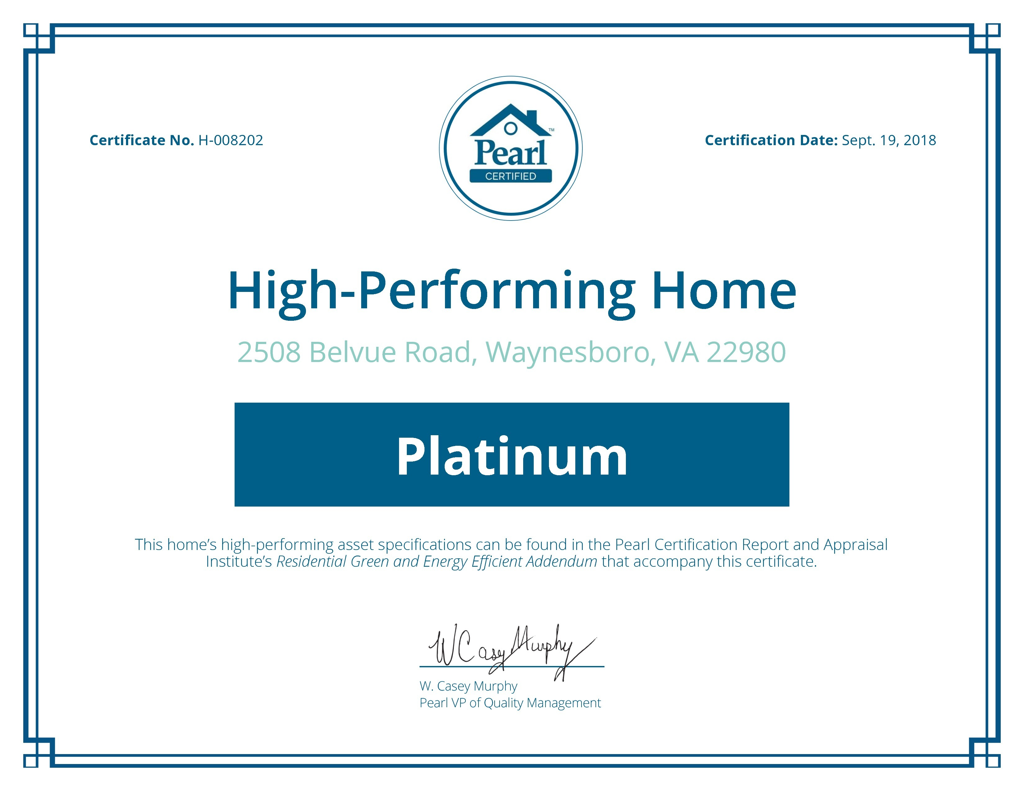 Certificate Preview