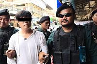 A Chinese man who uses fake grenades...