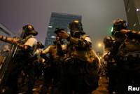 Hong Kong police use tear gas and...