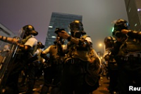 Hong Kong police use tear gas and...