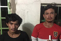 Police detained two suspects in drug...