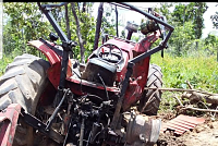 Explosion while operating tractor...