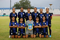 Cambodian female football team...