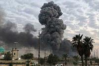 An explosion erupted from a depot...