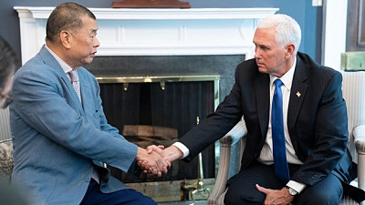 Media Boss Jimmy Lai Meets Pence, Pom...
