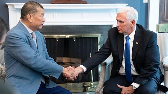 Media Boss Jimmy Lai Meets Pence, Pom...