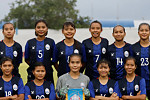 Cambodian female football team...