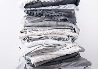 色、サイズが統一されていない洗濯物をまとめて依頼したい。