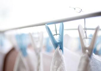 店舗で洗濯しているが、菌の繁殖や匂い残りが気になる。