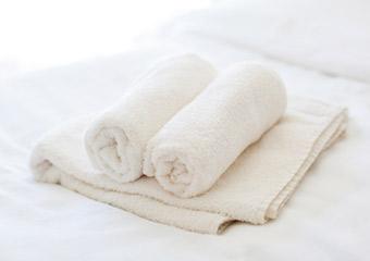 タオルの肌触りにもこだわりたい。上質な仕上がりが必要。