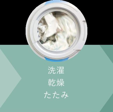 洗濯・乾燥・たたみ