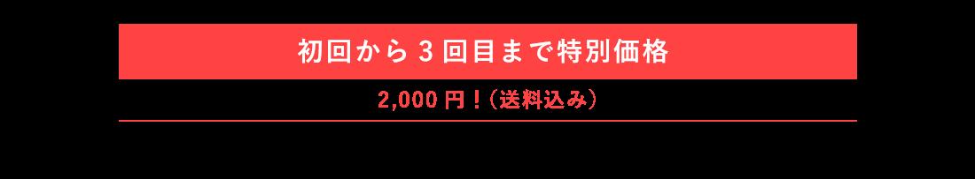 初回から3回目まで特別価格 2,000円!(送料込み)
