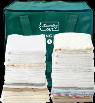 専用ランドリーバッグに入る洗濯物のイメージ