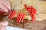person dicing tomatoes for pico de gallo   Classpop
