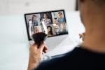 person taking a virtual wine tasting class | Classpop