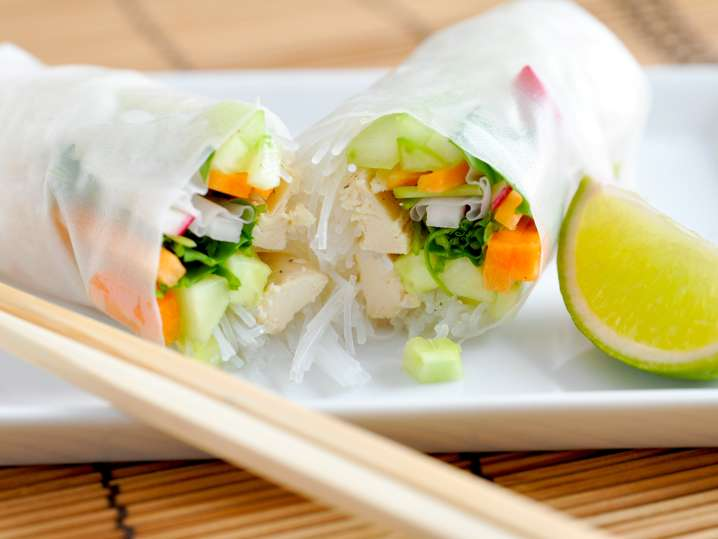 Hand Rolled Spring Rolls