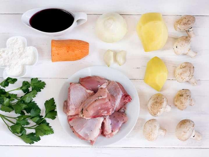 chicken Coq au vin ingredients   Classpop