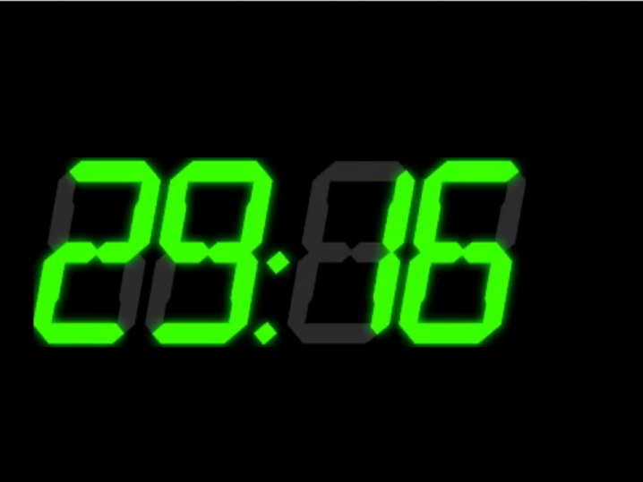 90s virtual escape room   digital clock