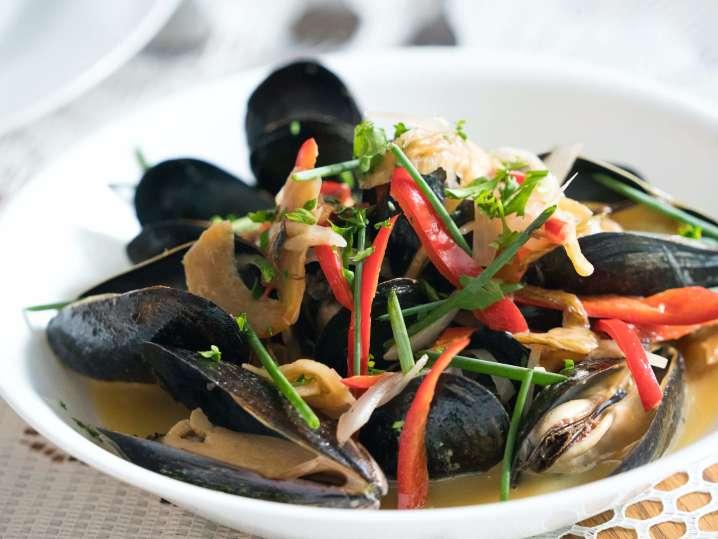 thai steamed mussels   Classpop