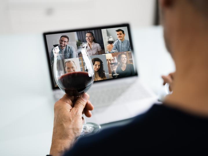 person taking a virtual wine tasting class   Classpop