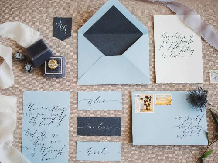 Elegant Wedding Calligraphy