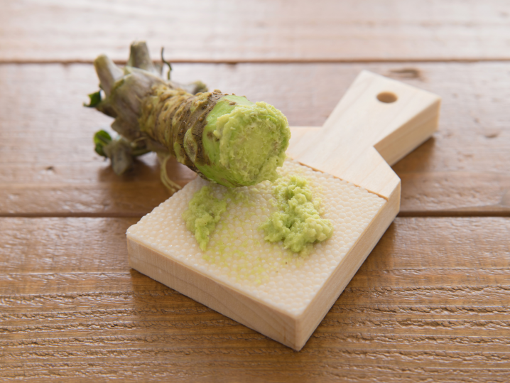 shaved Wasabi root