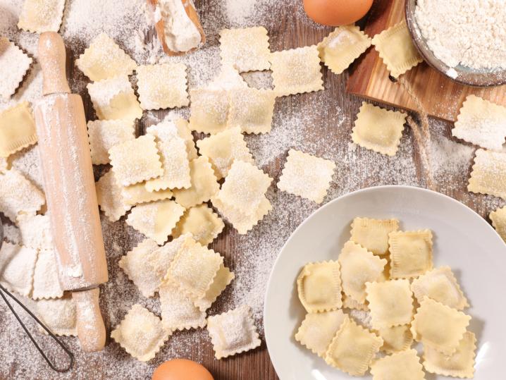 making fresh ravioli