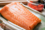 fresh salmon for sushi rolls